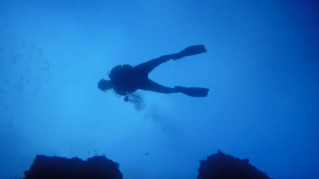 Scuba diving and dive sites on Lanzarote - Blue Hole