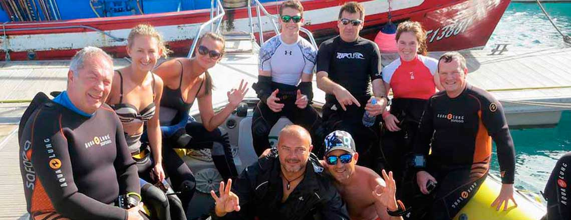 Boat diving in Lanzarote - Canary Island Divers