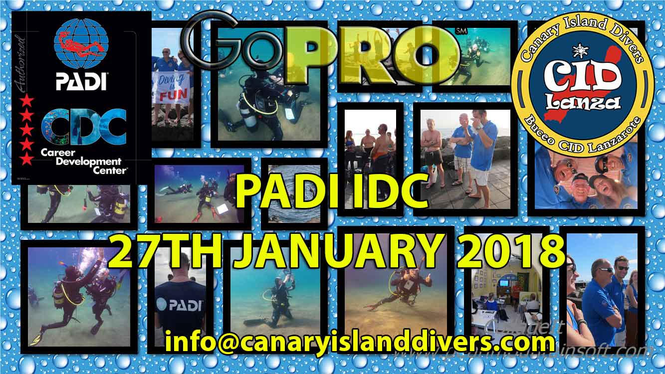 PADI IDC Lanzarote